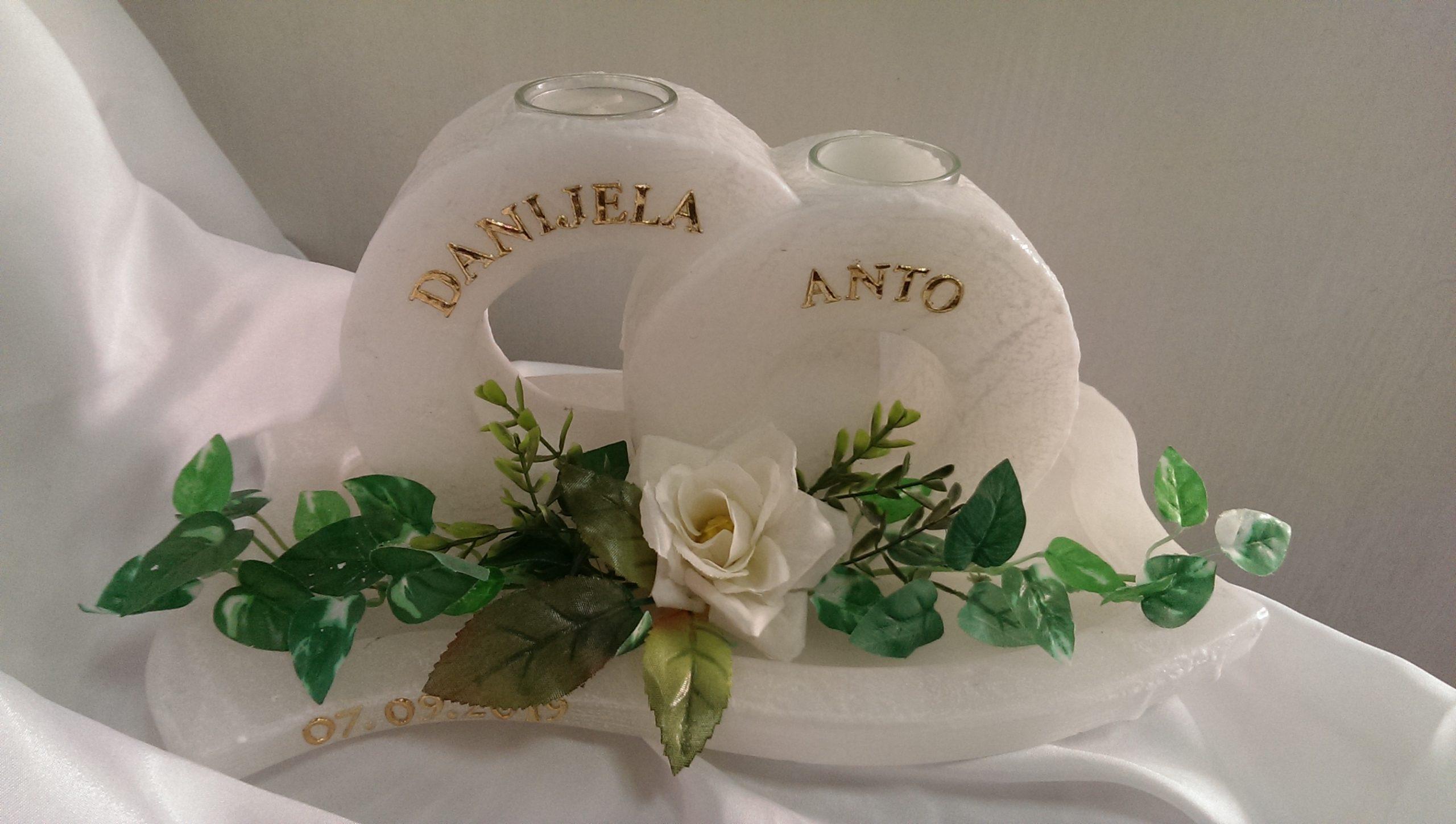 Hochzeitskerze Ringe