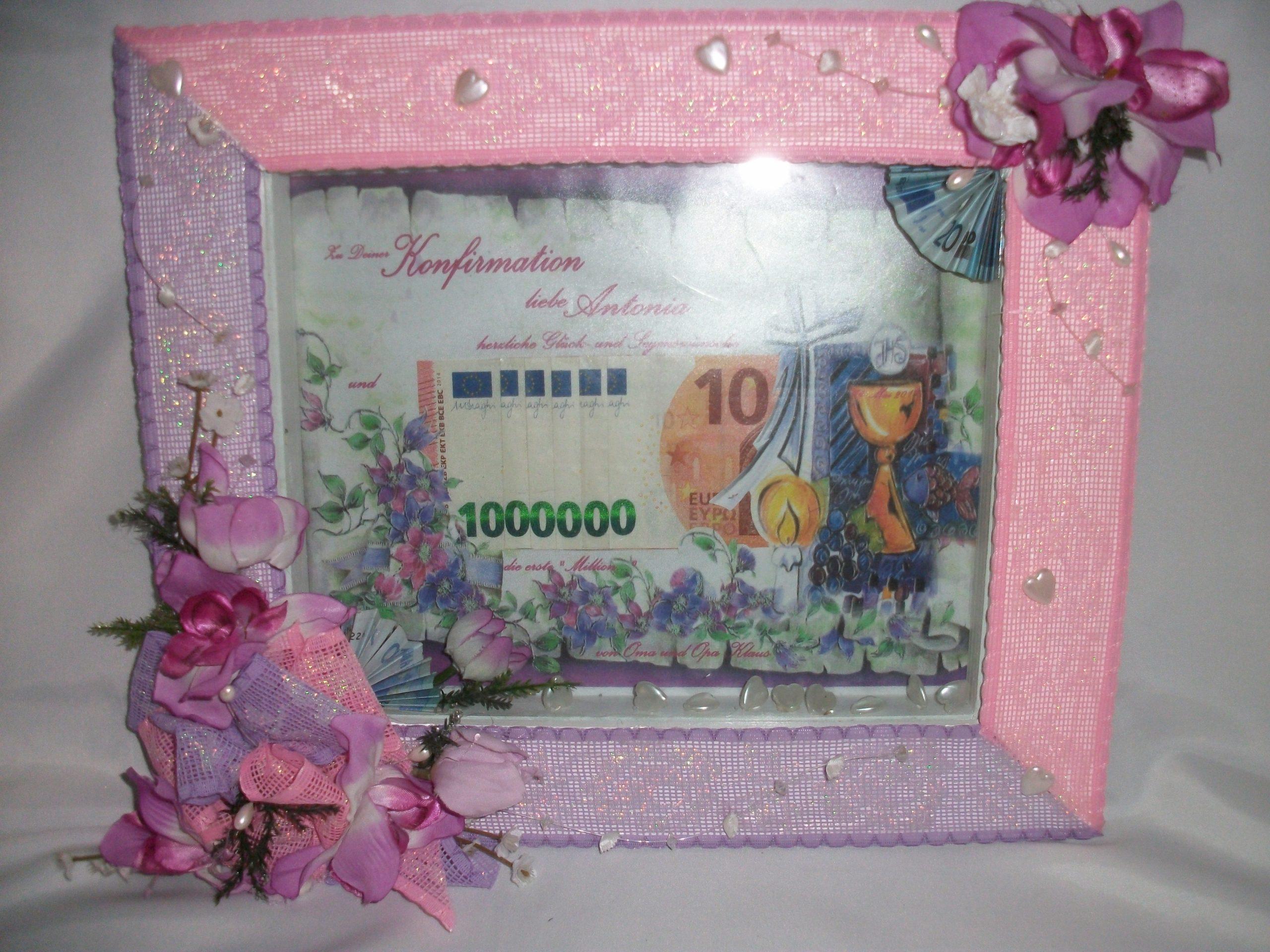 Anfertigung von Geschenkrahmen für Geld Farben und Ausführung nach Wunsch by Happy Day Brautmoden Berlin