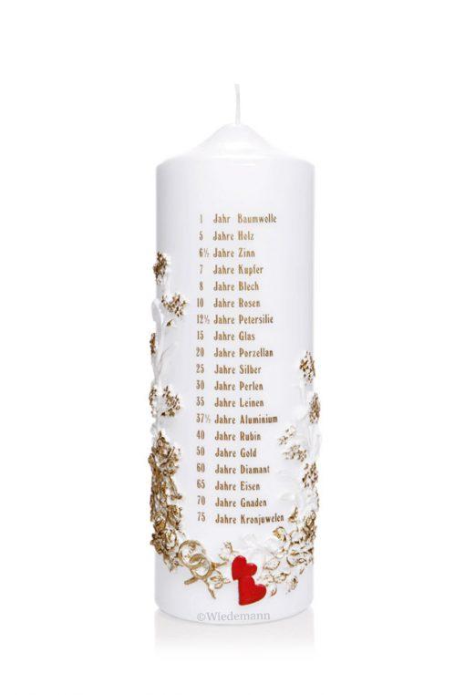 Hochzeitskerze Jahreszahlen Happy Day Brautmoden Berlin (Hersteller Wiedemann)